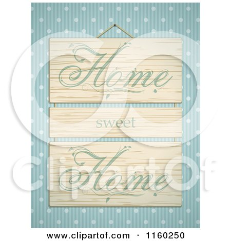Royalty Free RF Home Sweet Home Clipart Illustrations Vector