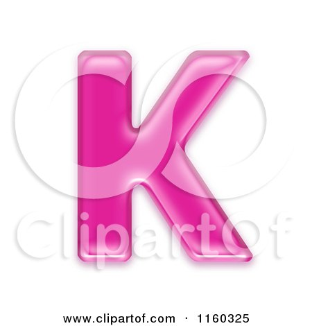 K Letter Images In Pink Clipart of a 3d Pink Jelly Capital Alphabet Letter K - Royalty Free ...