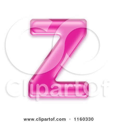 Clipart of a 3d Pink Jelly Capital Alphabet Letter Z - Royalty Free CGI Illustration by chrisroll