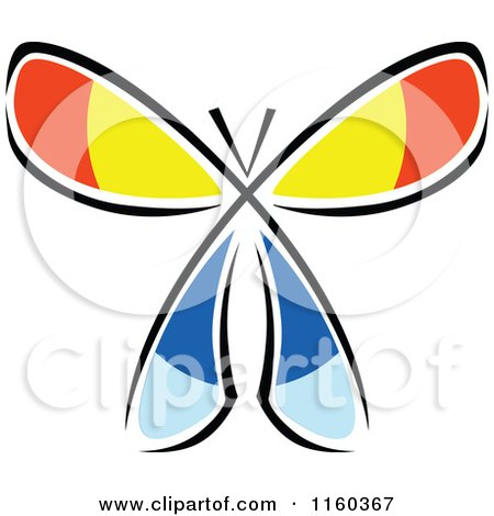 Clipart of a Colorful Butterfly - Royalty Free Vector Illustration by Vector Tradition SM