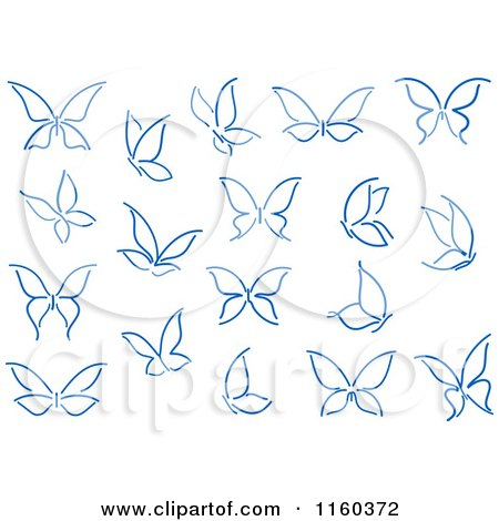 Royalty Free Rf Clipart Of Blue Butterflies