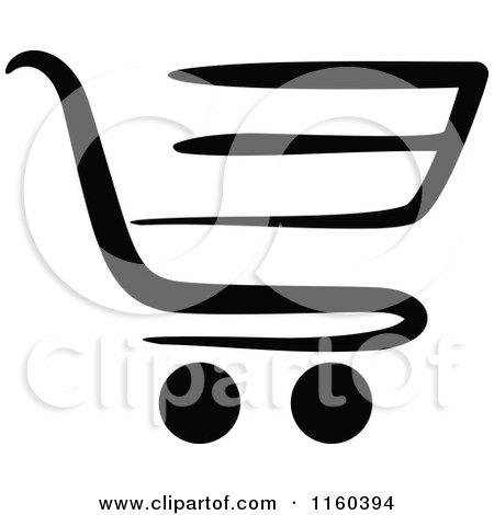 Clipart 3d Blue Shopping Cart Icon - Royalty Free Vector ...