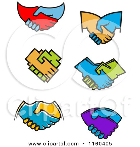 Clipart of Handshakes - Royalty Free Vector Illustration by Vector Tradition SM
