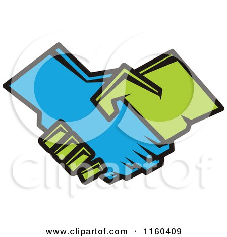 Clipart of a Handshake - Royalty Free Vector Illustration by Vector Tradition SM