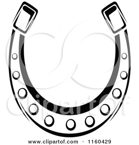 Clipart of a Black and White Horseshoe 11 - Royalty Free Vector Illustration by Vector Tradition SM