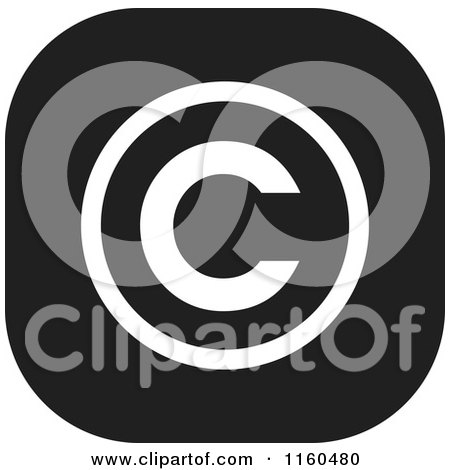 Clipart of a Black and White Copyright Icon - Royalty Free Vector Illustration by Johnny Sajem