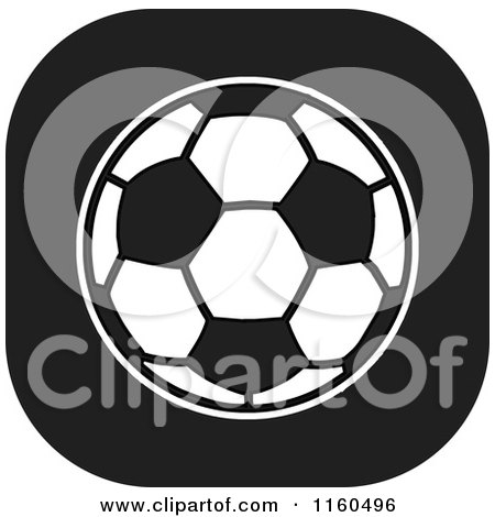 Clipart of a Black and White Soccer Ball Icon - Royalty Free Vector Illustration by Johnny Sajem