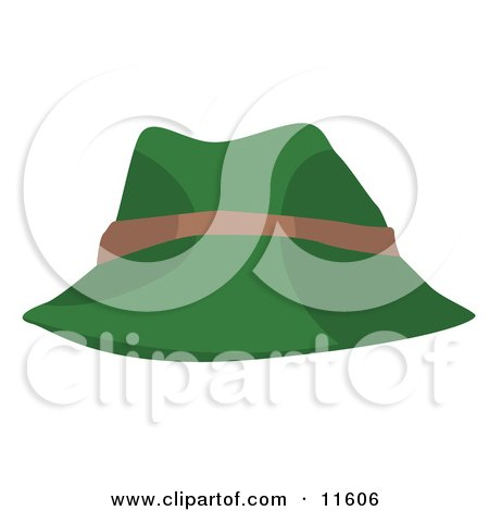 Green and Tan Hat Clipart Picture by AtStockIllustration