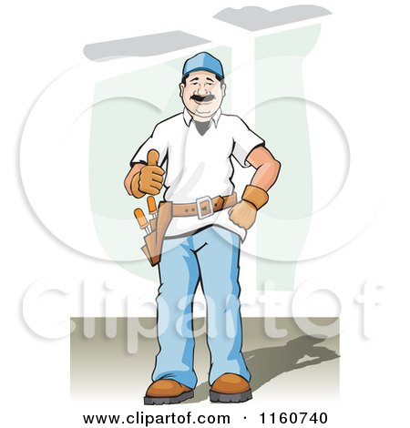 Happy Construction Worker Holding a Thumb up Posters, Art Prints