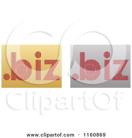 Clipart of Gold and Silver Dot Biz Icons - Royalty Free Vector Illustration by Andrei Marincas