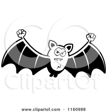 royaltyfree rf angry bat clipart illustrations vector