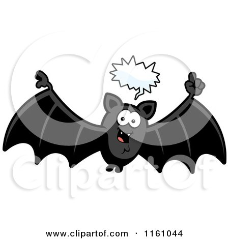 Cartoon of a Talking Vampire Bat - Royalty Free Vector Clipart by Cory Thoman