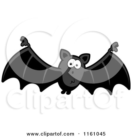Cartoon of a Surprised Vampire Bat - Royalty Free Vector Clipart by Cory Thoman