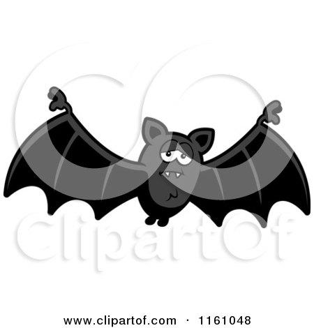 Cartoon of a Depressed Vampire Bat - Royalty Free Vector Clipart by Cory Thoman