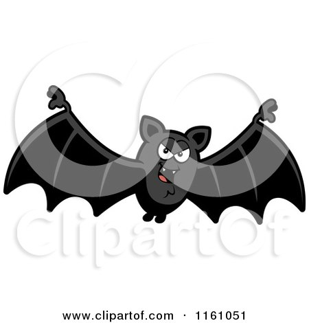 Cartoon of an Evil Vampire Bat - Royalty Free Vector Clipart by Cory Thoman