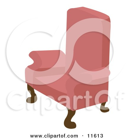 Pink Chair With Wooden Legs Posters, Art Prints