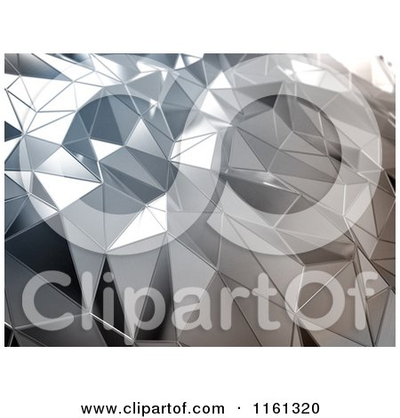 Clipart of a 3d Abstract Silver Metal Background - Royalty Free CGI Illustration by Mopic