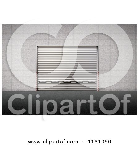 Clipart of a 3d Cargo Delivery Gate with the Door down - Royalty Free CGI Illustration by stockillustrations