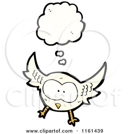Cartoon of a Thinking Owl - Royalty Free Vector ...