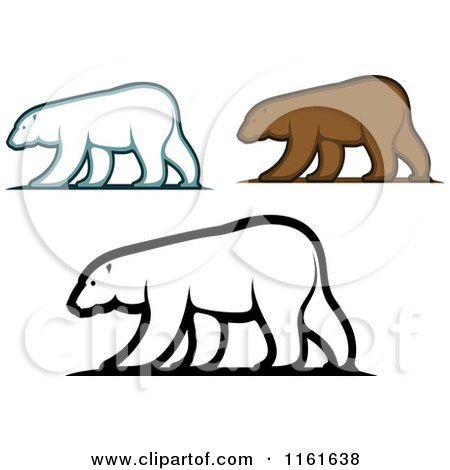 Clipart of Walking Bears - Royalty Free Vector Illustration by Vector Tradition SM
