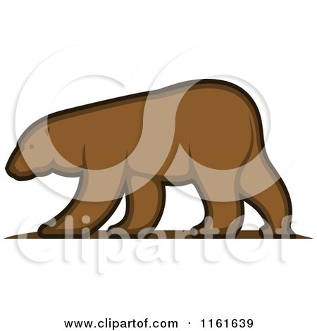 Clipart of a Walking Bear in Profile - Royalty Free Vector Illustration by Vector Tradition SM