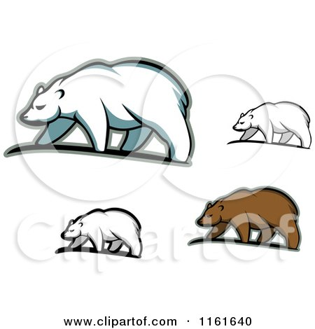 Clipart of Walking Bears 2 - Royalty Free Vector Illustration by Vector Tradition SM