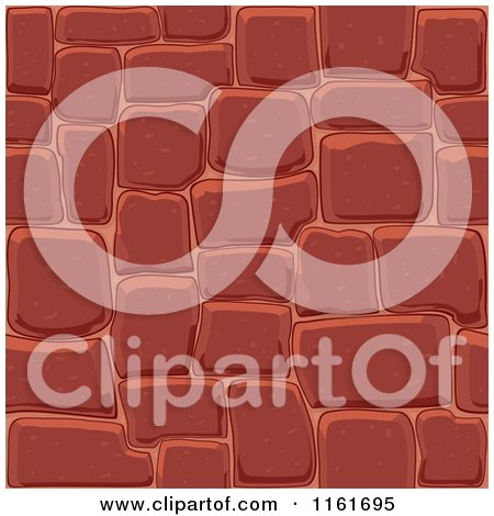 Clipart of a Red Seamless Stone Background - Royalty Free Vector Illustration by Vector Tradition SM