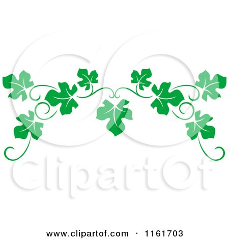 Clipart Of A Green Grape Vine Page Border Royalty Free