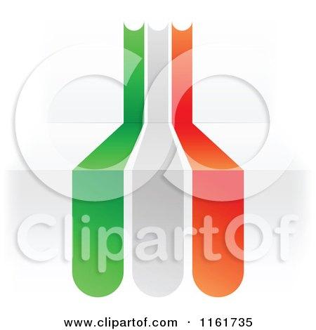 Clipart of an Italian Flag over 3d Steps - Royalty Free Vector Illustration by Andrei Marincas