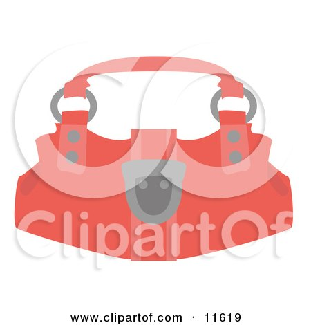 Salmon Pink Purse Clipart Picture by AtStockIllustration