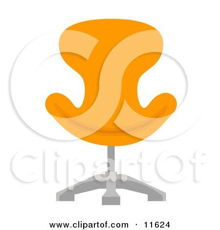 Orange Chair Posters, Art Prints
