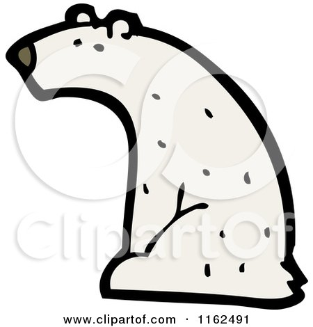 Cartoon of a Polar Bear Sitting - Royalty Free Vector Illustration by lineartestpilot