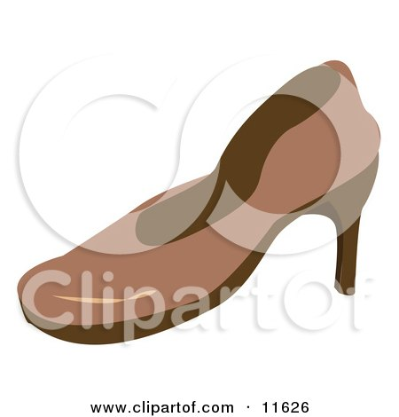 Brown High Heel Shoe Clipart Picture by AtStockIllustration