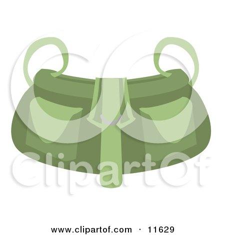 Green Shoulder Bag Purse Clipart Picture by AtStockIllustration