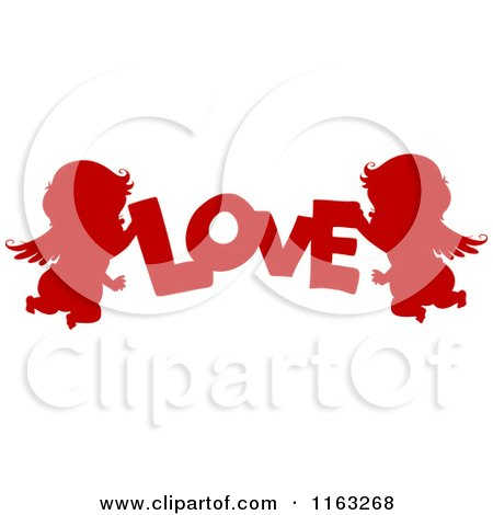 Royalty-Free (RF) Silhouetted Cupid Clipart, Illustrations, Vector ...