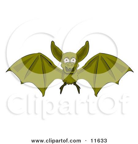 Flying Vampire Bat Clipart Illustration by AtStockIllustration