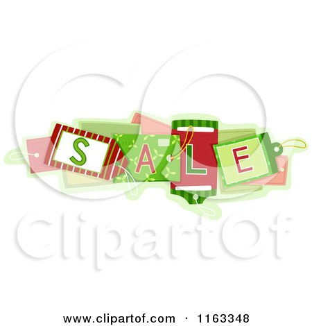 Cartoon of Christmas Sale Tags - Royalty Free Vector Clipart by BNP Design Studio