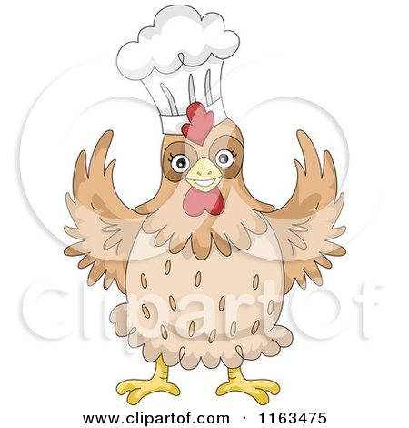 Happy Chicken Wearing a Chef Hat Posters, Art Prints