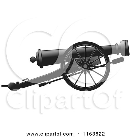 Clipart of a Cannon Gun - Royalty Free Vector Illustration by Lal Perera