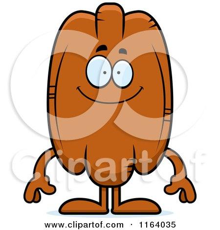 Cartoon of a Happy Pecan Mascot - Royalty Free Vector Clipart by Cory Thoman