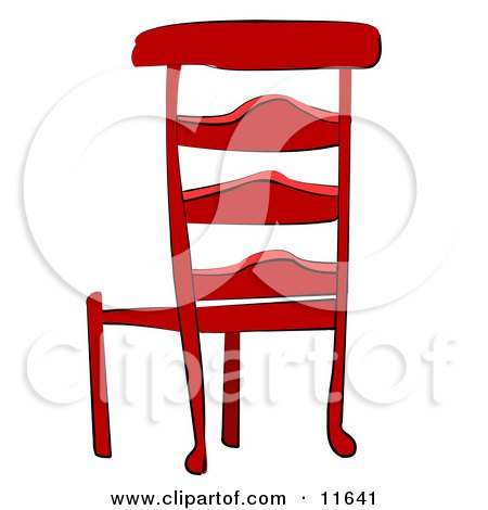 Chairs on Red Wooden Chair