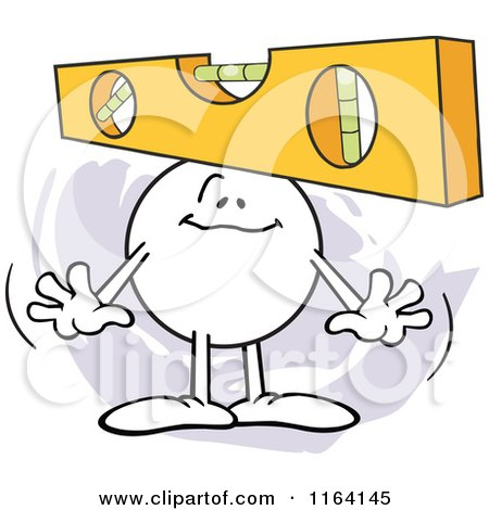 Cartoon of a Level Headed Moodie Character - Royalty Free Vector Clipart by Johnny Sajem