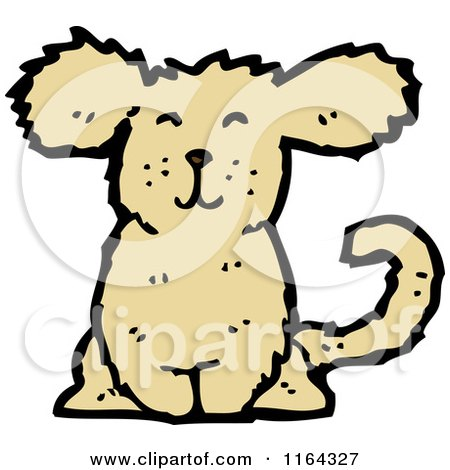 Cartoon of a Happy Dog - Royalty Free Vector Illustration by lineartestpilot