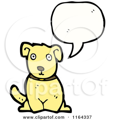 Cartoon of a Talking Dog - Royalty Free Vector Illustration by lineartestpilot