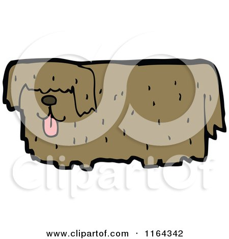 Cartoon of a Dog - Royalty Free Vector Illustration by lineartestpilot