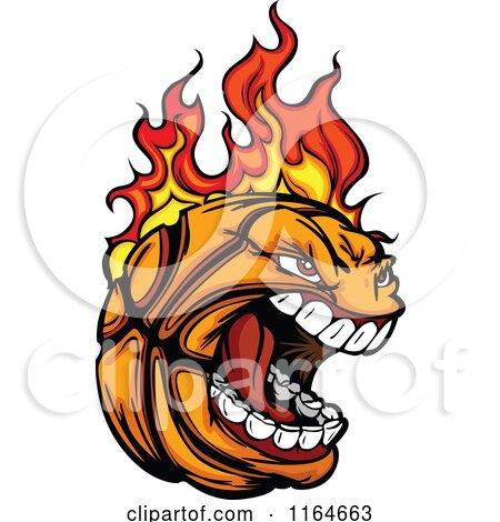 Screaming and Flaming Basketball Mascot Posters, Art Prints
