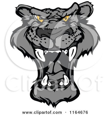 Roaring Black Panther Face  Panther Face