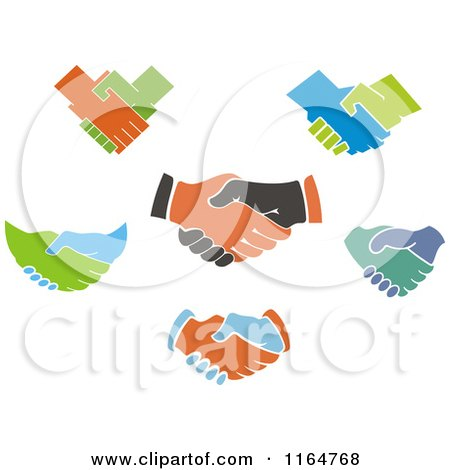 Clipart of Handshakes 2 - Royalty Free Vector Illustration by Vector Tradition SM