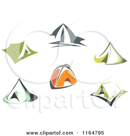 Clipart of Camping Tents - Royalty Free Vector Illustration by Vector Tradition SM