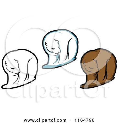 Clipart of Brown and Polar Bears 2 - Royalty Free Vector Illustration by Vector Tradition SM